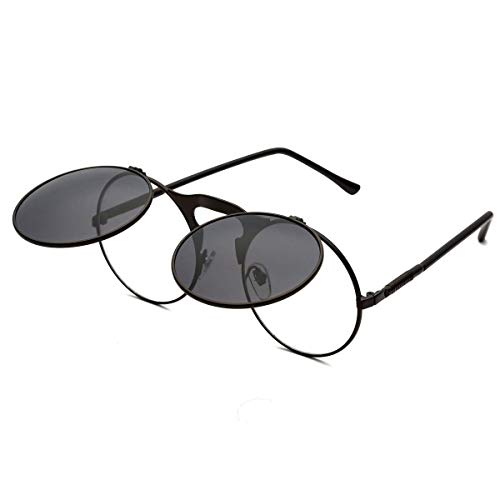 Designer Flip Up Sunglasses - Round Sunglasses for Men Women Retro