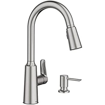 moen anabelle kitchen faucet moen ca87003srs single handle kitchen faucet with pullout 20804