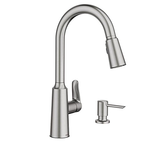 Edwyn Spot Resist Stainless 1-Handle Deck Mount Pull-Down Kitchen Faucet