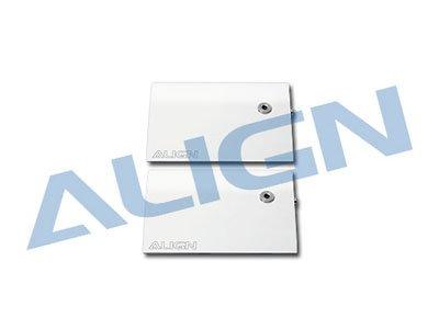 Align Carbon Fiber Flybar Paddle Set, 3K White: All T-Rex 600