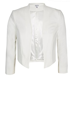 Designer Plus Size BOLERO AFTER 5 COL - Ivory - 24 / XXL | City Chic