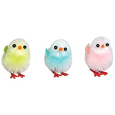 amscan Easter Chicks, 6 Ct.   Assorted Colors   Party Favor: Toys & Games