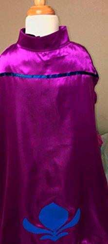 Elsa Costume viola Mantello Diadema Blu Corona Guanti America Dell'incoronazione Vogue Abito gw6q6t