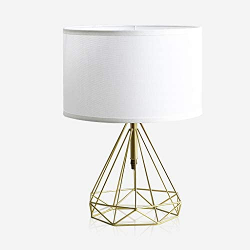 &Reading Light Table Lamp Scandinavian Style Copper Simple Living Room Lamp Bedroom Bedside Table Diamond Shape Study Lamp Bedside lamp