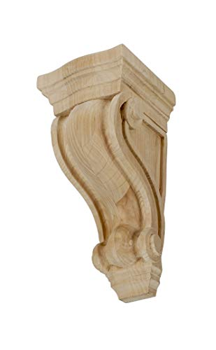 Large Unfinished Classic Corbel - 4-3/4 in. x 2-7/8 in. x 2-5/8 in. Unfinished X-Small North American Solid Alder Classic Traditional Plain Wood Corbel