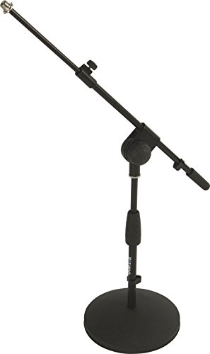 Amazon com: Quik Lok Short Microphone Stand with Telescopic Mic