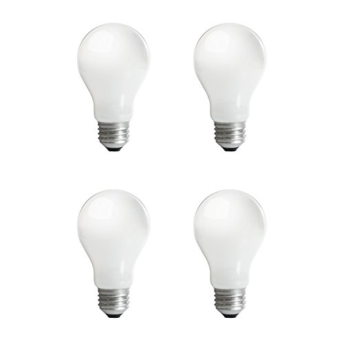 SIGALUX A19 Halogen Light Bulb, 43 Watt(, replace 60W incandescent) E26 Base, 120 Volt, (4 (4 Pack Halogen Bulb)