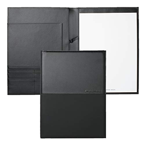 (Hugo Boss HDF701A A4 Folder Caption Contrast - Black)