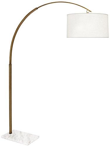 Robert Abbey Archer Large Warm Brass Arc Floor Lamp (Robert Lamp Brass Floor)