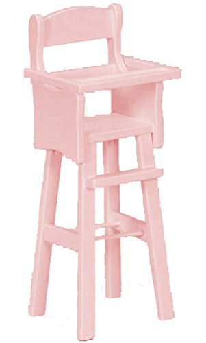 Amish Buggy Toys 18'' Doll Wooden Play Furniture High Chair, Pink by Amish Buggy Toys