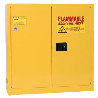 Eagle 1976 Safety Cabinet for Flammable Liquids, 2 Door Manual Close, 24 gallon, 44