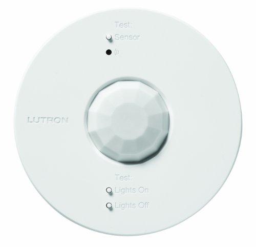 Lutron LRF2-OCRB-P-WH Radio Powr Savr Wireless Ceiling-Mounted Occupancy/Vacancy Sensor, White