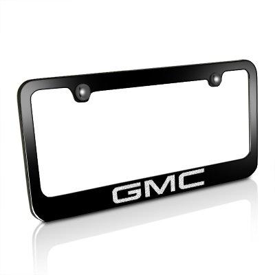 Amazon.com: GMC Black Metal License Plate Frame: Automotive