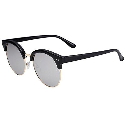 Conducción Polarizador Gafas Negro Media Montura Nueva de Hombres 2018 ZQ Corea de Ultra solar Sol Sol Espejo de Gafas Gafas 6qzfRSfw
