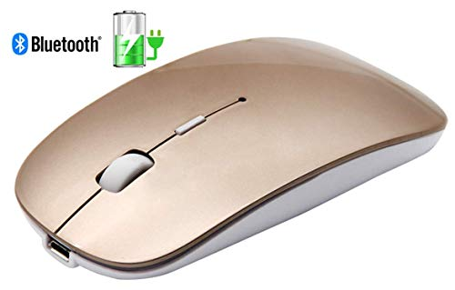 Tsmine Slim Rechargeable Bluetooth Mouse, Ultra-Slim Mice fo