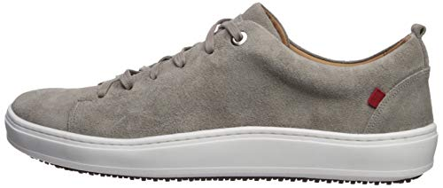 Marc Joseph New York Mens Genuine leather Made in Brazil Union Square Sneaker, Light Grey Suede, 9.5 M US