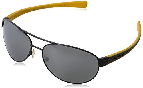 TAG HEUER 66 0253 111 621603 Polarized Oval Sunglasses, BLACK, 62 ()