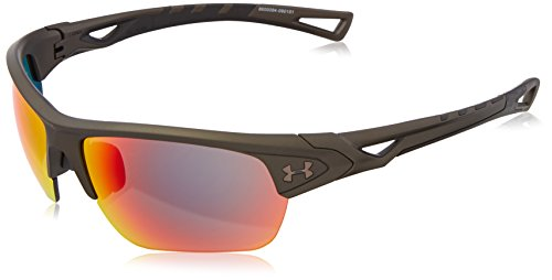 Under Armour Ua Octane Ceramic Charcoal/Black Frame/Gray Infrared Multiflection Lens Wrap Sunglasses, Charcoal/ Infrared, 63 - Infrared Sunglasses