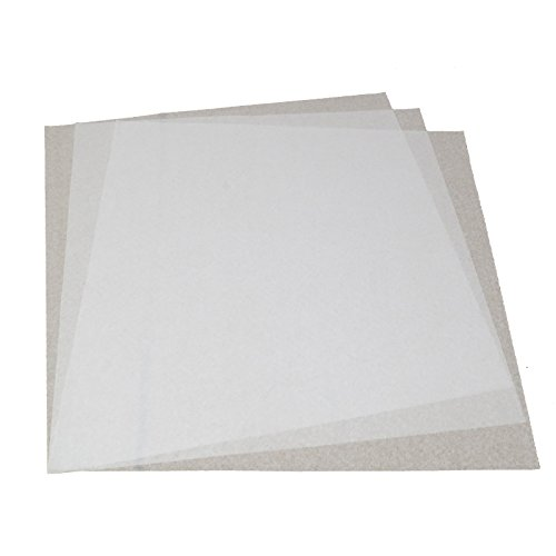 TELMOO Deli Wax Coated Food Grade White Tissue Paper Sheets Pack of 100 | Microwaveable 12x12 Inches Grease Resistant Square Food Liner | WWP-002 ()