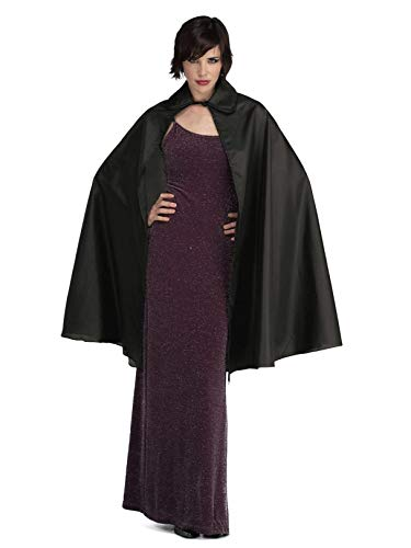 Rubie's Taffeta 3/4 Length Cape Costume, Black, -