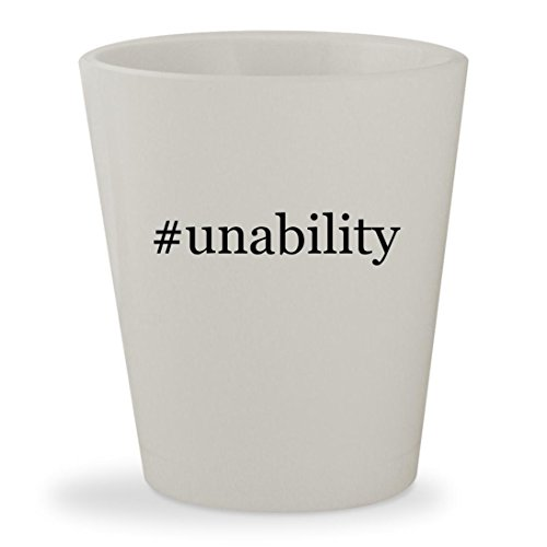 Price comparison product image #unability - White Hashtag Ceramic 1.5oz Shot Glass