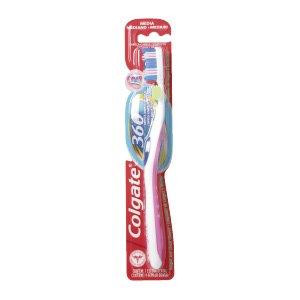 Colgate 360 paquete de cepillos de dientes (mediano con fruncido en forma)