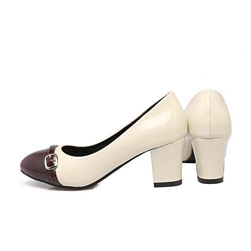 Punta A Medio Tacco Chiaretto Donna Maiale Scarpe Pelle di Flats VogueZone009 Colore Assortito Ballet Y68Xn