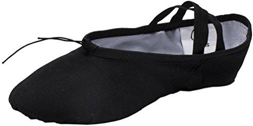 Cpdance Tm Canvas Split Sole Practice Balletto Danza Scarpe Slipper Yoga Scarpe Per Bambini E Adulti Nero