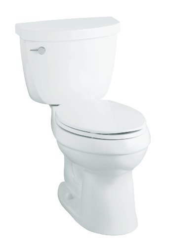 (KOHLER K-11451-0 Cimarron The Complete Solution Two-Piece Toilet with Class Six, White)