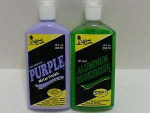 California Custom Products Purple Metal Polish/deoxidizer Combo