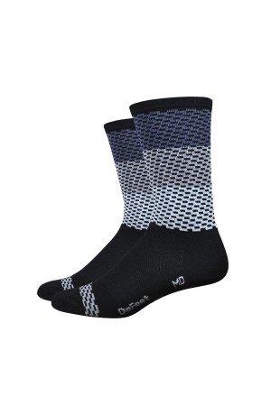 DeFeet Aireator Charleston Socks, X-Large, Grey Black Charleston Collection