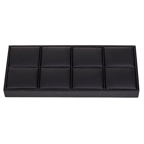 Black Leatherette 8-Pendant Tray by US Gifts