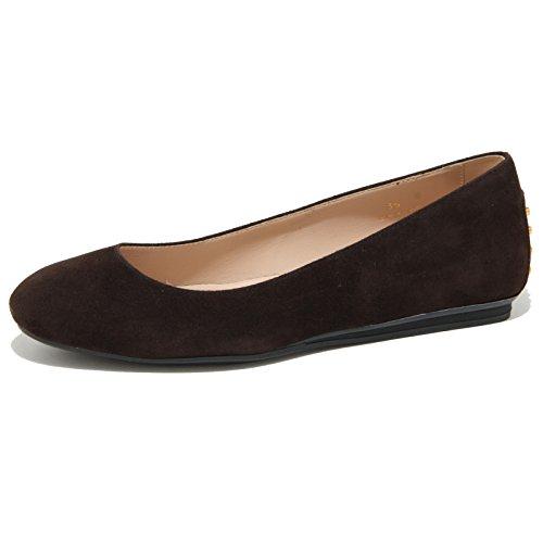 0476O ballerina TODS marrone scarpe ballerine donna shoes women Marrone