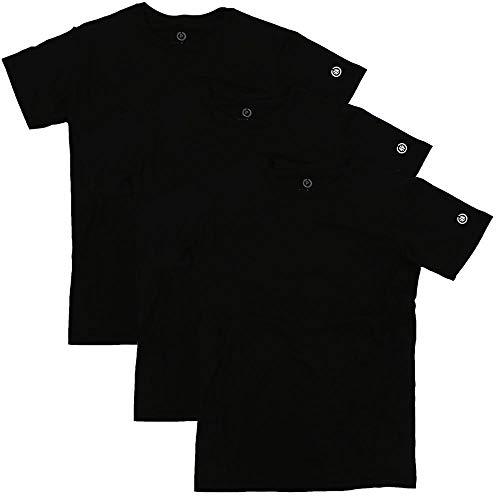 Kit Camisetas Pretas lisas Tamanho