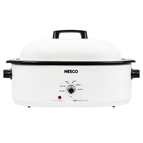 (NESCO MWR18-14 Roaster Oven 18 Quarts, White)