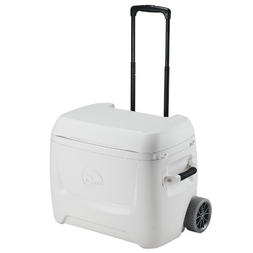Igloo Marine Breeze Ultra Roller Cooler with Accessories (White, 50-Quart)