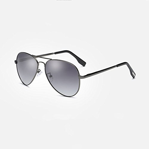 colores moda polarización rana Silver de Color lens water metálicas LSX de marco Gafas Gradient Gray gafas clásicas Frame conducción grandes espejo LX de silver frame sol nuevas masculinas femeninas y Lens Gray ZwXTXO