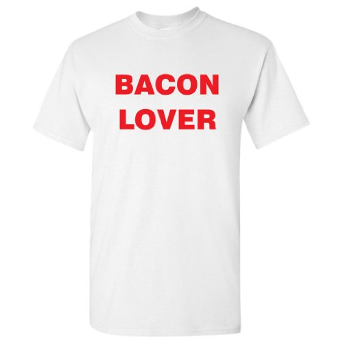 Tasty Threads Bacon Lover Adult T-Shirt (White, 5XL)
