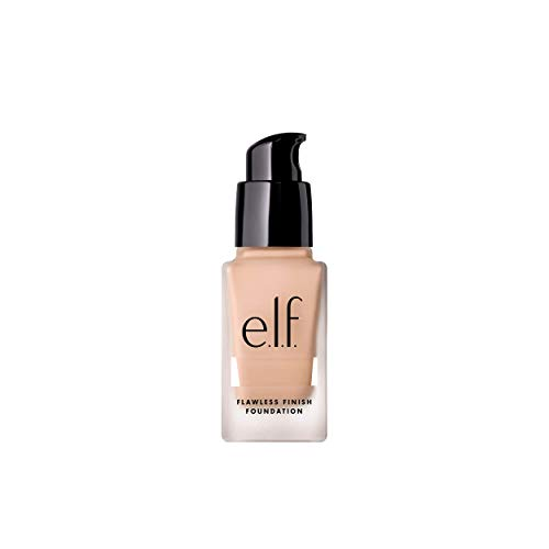 Elf Make Up (e.l.f. Flawless Finish Foundation, Semi-Matte, Long-Lasting Liquid Makeup, SPF 15, Porcelain, 0.68 Fl)