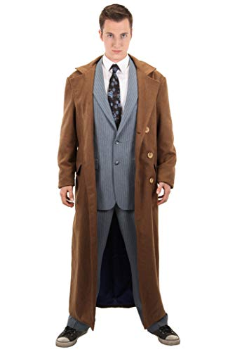 Brown Coat Costume (elope Dr. Who Tenth Doctor Jacket Mens)