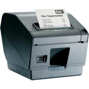 Star Micronics 39442511 Model TSP743IIU-24GRY Thermal Printer, Friction, Cutter, USB, Without Power Supply, Gray by Star Micronics