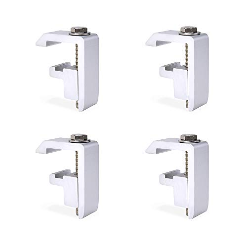 AA-Racks P-AC-04N Utility Track System Mounting Clamp for Toyota Tacoma/Tundra Truck Cap/Camper Shell, Set of 4 - Silver