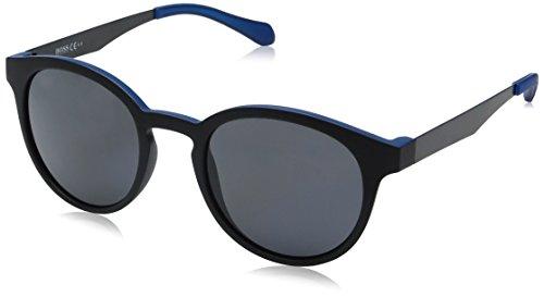 BOSS by Hugo Boss Men's B0869s Round Sunglasses, Matte Black Blue/Gray Polarized, 51 - Round Hugo Boss Glasses