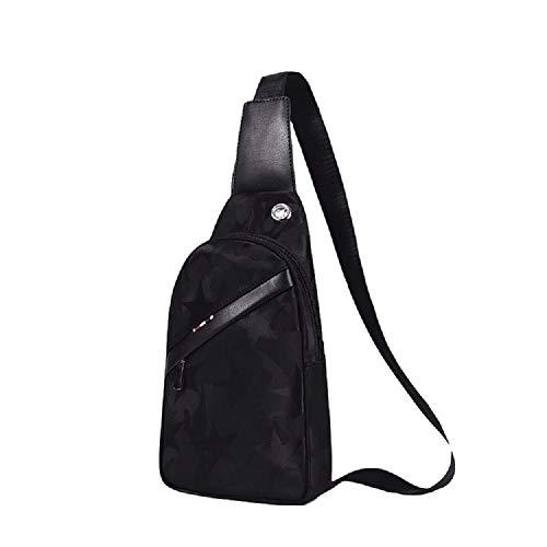 Chest Hhgold color Black Bag One Men's Black Shoulder Vintage IOxrnB6Iw