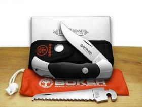 Boker 113103 Optima Delrin Set Pocket Knife with 3 in. Steel Blade, Silver
