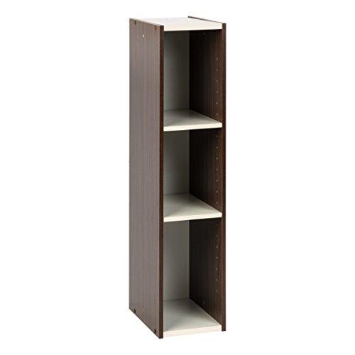 - IRIS USA, UB-9020, Slim Space Saving Shelf with Adjustable Shelves, 8 x 34