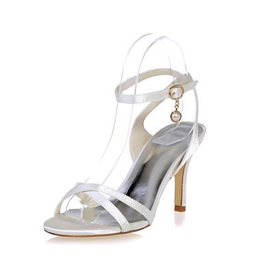 Open Zapatos Stiletto Más US6 Eveningshoes Mujer Parte Toe amp;Amp; Tobillo Disponibles Sandalias Satin UK4 Colores EU36 De CN36 Boda Talón OYYrg