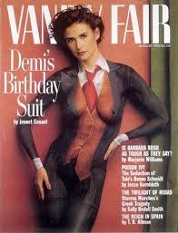 **MAGAZINE COVERS ONLY** 2 Demi Moore Vanity Fair Covers Birthday Suit Issues -
