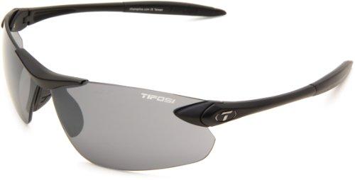 Tifosi Matte Black Frame/Smoke Wrap, 74mm Lens Width/130mm Arm/16mm Bridge