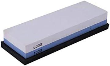滑り止めの基盤が付いている専門の等級の削る石1000/6000 砂利の石の両面の白いコランダム (白い + 青)